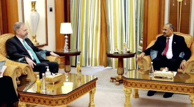 Al-Zubaidi Holds Meeting with US Ambassador